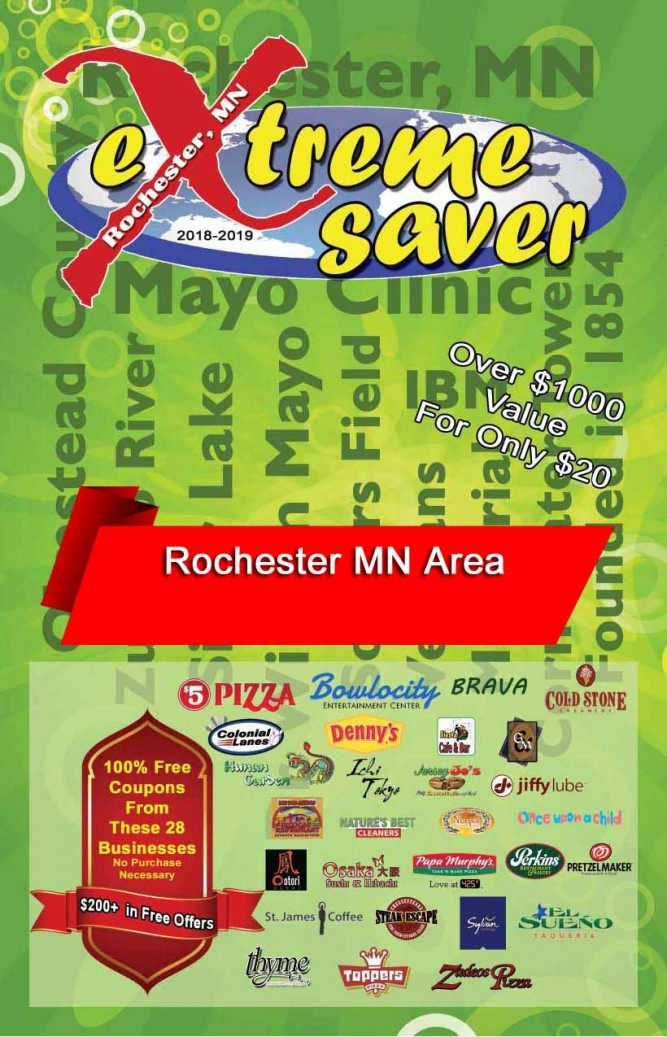Rochester, MN Coupon Book
