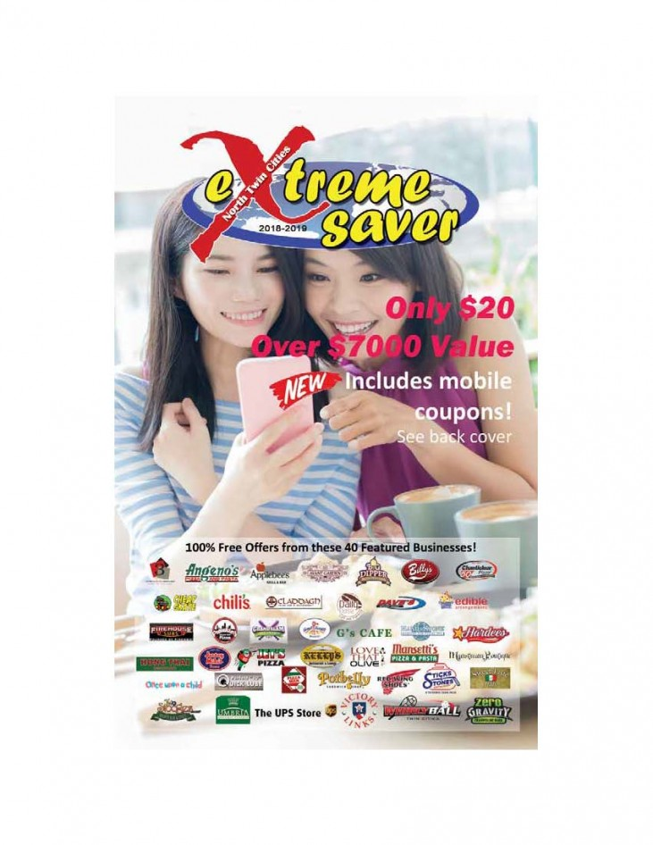 Mankato MN money saving Coupons, Coupon Book Cover image