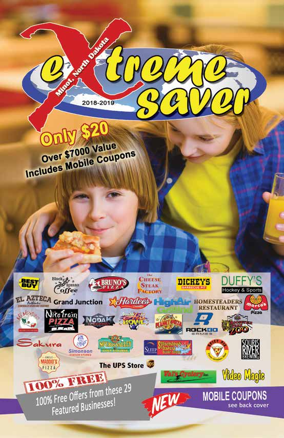 Minot ND Extreme Saver Coupon Book Cover image