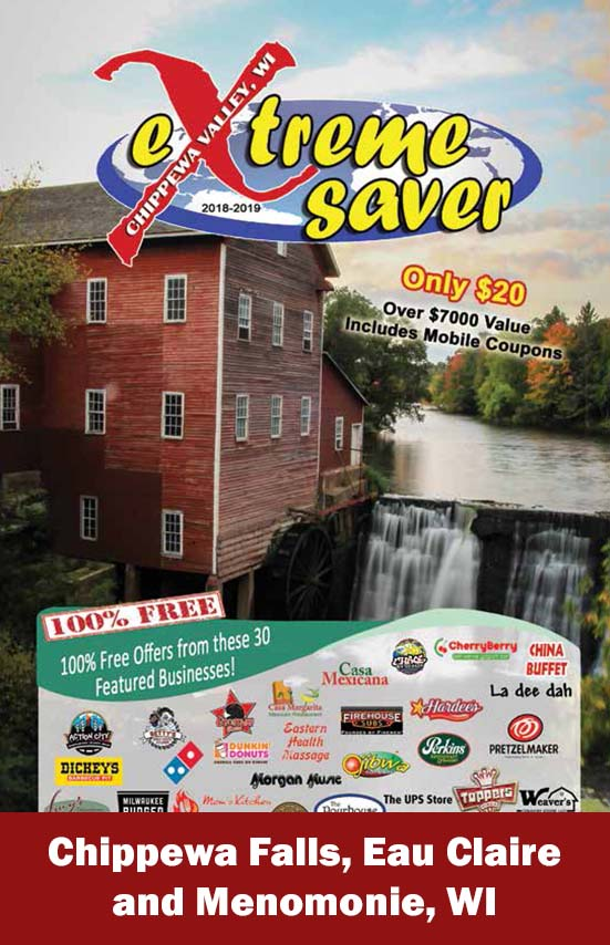 Chippewa Valley - Menomonie, Chippewa Falls Coupon Book