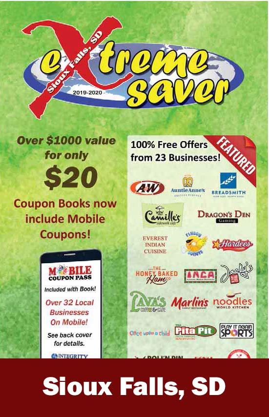 Sioux Falls, SD Coupon Book